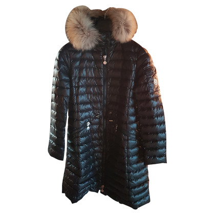 Moncler Quilted coat with fur collar