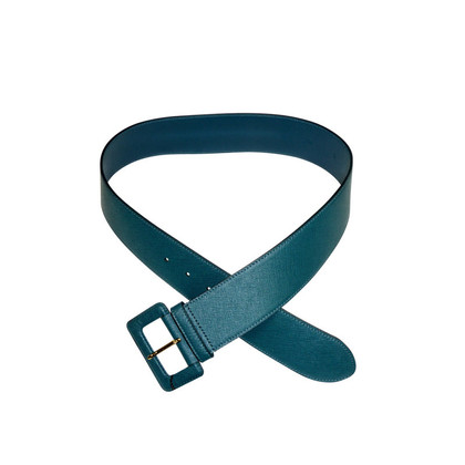 Prada Leather belt in the color teal