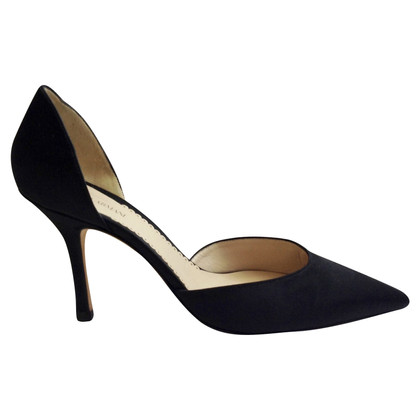 Armani Black satin heels