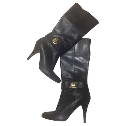 Michael Kors MK-LOGO leather boots