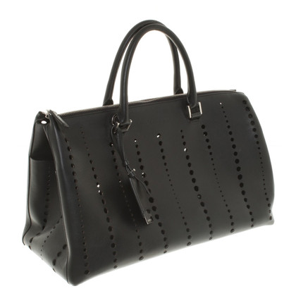 Jil Sander Leather Hopper with lace pattern