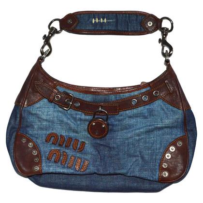 Miu Miu Denim and Leather Bag
