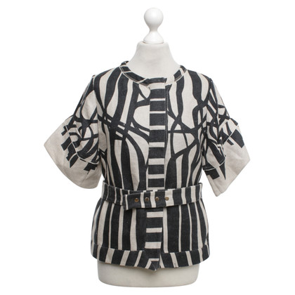 Vionnet top with pattern