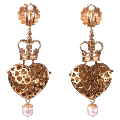 Dolce & Gabbana orecchini clip con angelo e cuore
