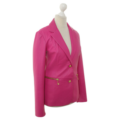 Versace Pink leather Blazer