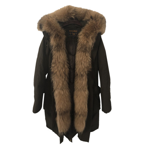 free shipping 1a6a1 c38b9 Woolrich Jacket/Coat Fur in Olive - Second Hand Woolrich ...