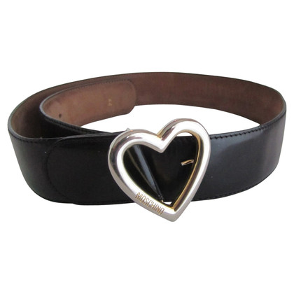 Moschino Black leather belt