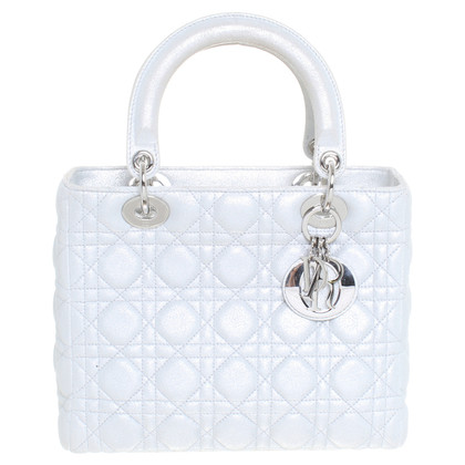 "Christian Dior ""Lady Dior Bag"" in look metallico"