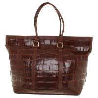 Jil Sander Travel bag from Reptilleder