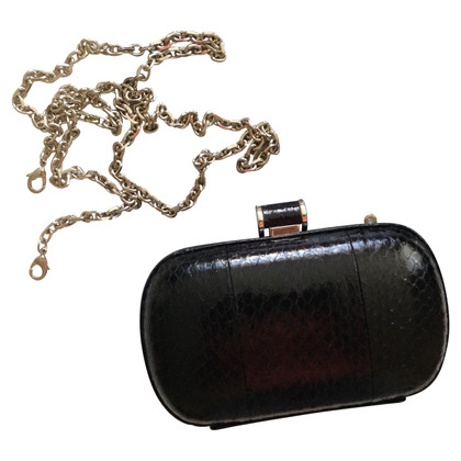 Max Mara clutch from snake leather