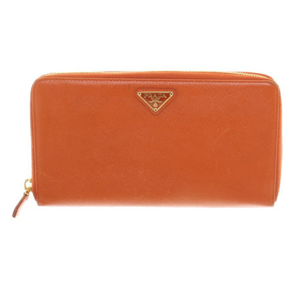 Prada Wallet in orange