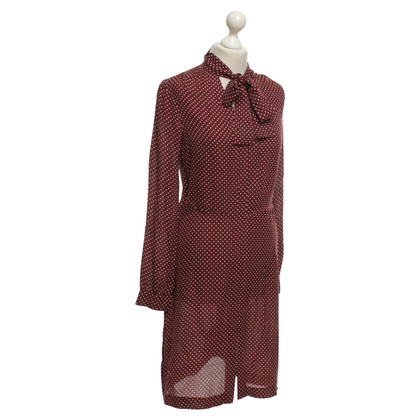 Michael Kors Seidenkleid mit Punktemuster