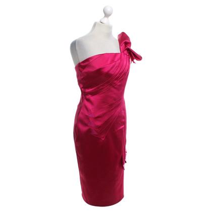Karen Millen One-Shoulder-Kleid in Fuchsia