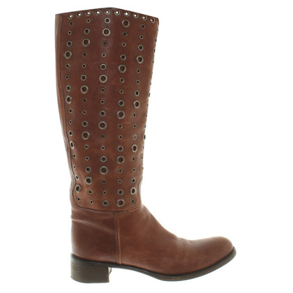 Prada Leather boots with studs