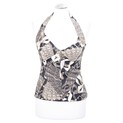 Karen Millen Halter top with pattern