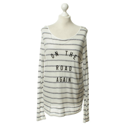 French Connection Striped shirt White/grey