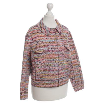 Nina Ricci Bouclé jas in multi gekleurd