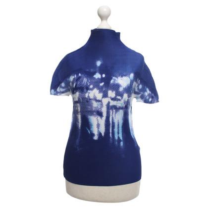 Issey Miyake T-shirt bleu / blanc