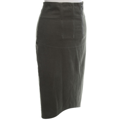 Acne skirt in olive green