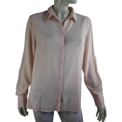 Filippa K Zachte roze crêpe blouse