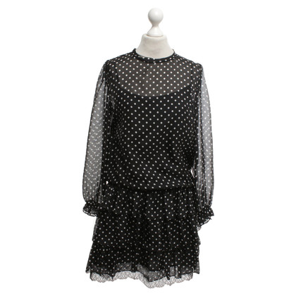 Marc Cain Dotted dress in black