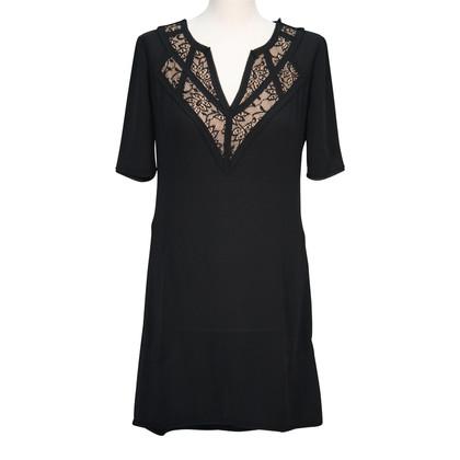 BCBG Max Azria Zwarte jurk van een lijn