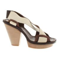 Marni Leather / wood sandals