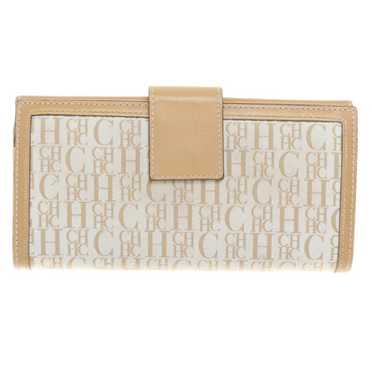 Carolina Herrera Wallet in Beige