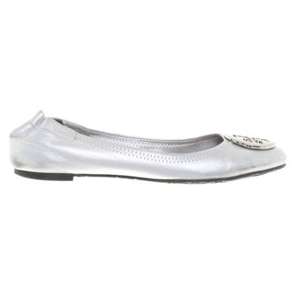 Tory Burch ballerine color argento