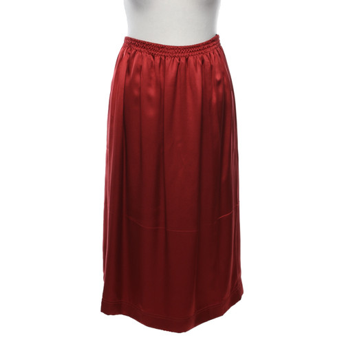 26f03fe5c74c Céline Skirt Silk in Red - Second Hand Céline Skirt Silk in Red buy ...