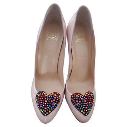 Christian Louboutin pumps with heart application