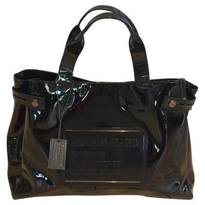 Armani Jeans Lackleder-Shopper