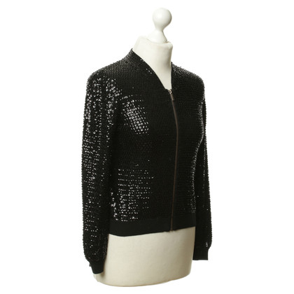 Jimmy Choo for H&M Sequin bomber jacket in black