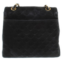 Chanel Black shoulder bag made of suede