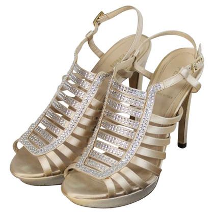 Fendi Fendi Heels schoenen strass crystal nude