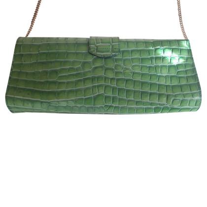 Marina Rinaldi clutch in crocodile skin look