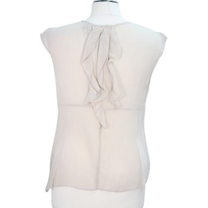 Karen Millen Silk top in cream
