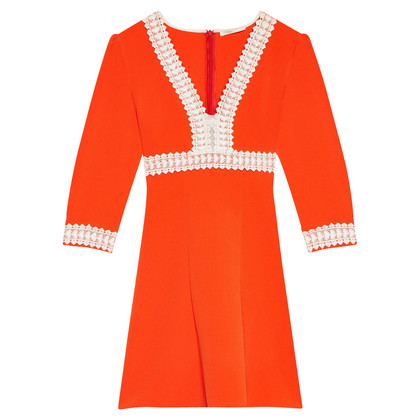 Maje Maje orange crepe dress SS17