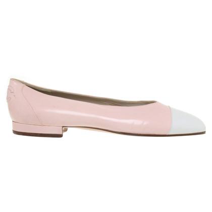 Chanel Ballerinas in rosé / white