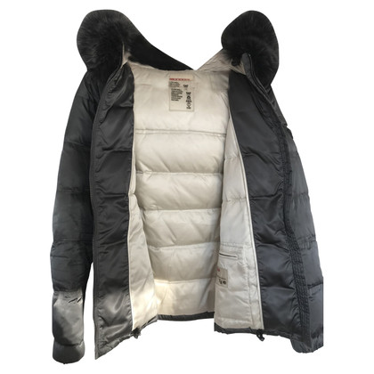 Prada Quilted jacket with fur collar
