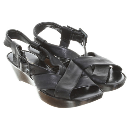 Robert Clergerie Leather sandals in black