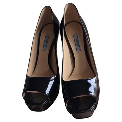 Prada Peep-toes in patent leather