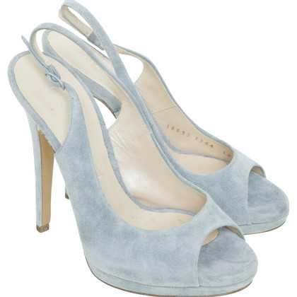 Casadei Peep-dita dei piedi in blu-chiaro