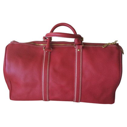 "Louis Vuitton ""Keepall 50"" made of red leather"