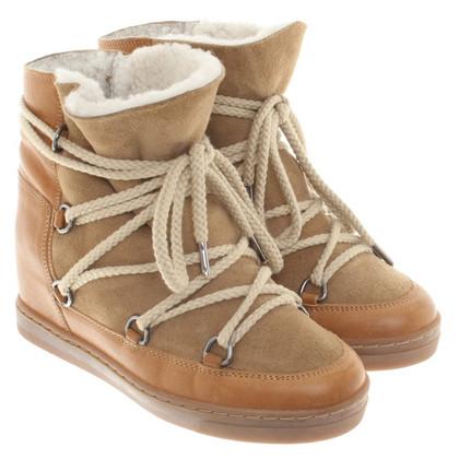 Isabel Marant Lined sneaker wedges