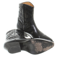Sandro Cowboy boots with embroidery