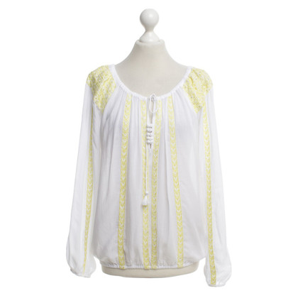 Melissa Odabash Tunic in white / yellow