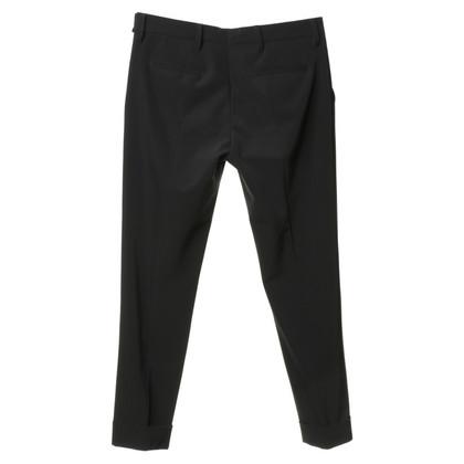 Prada Piega pantaloni blu scuro
