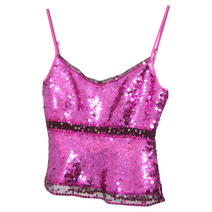 Karen Millen Sequin top in pink