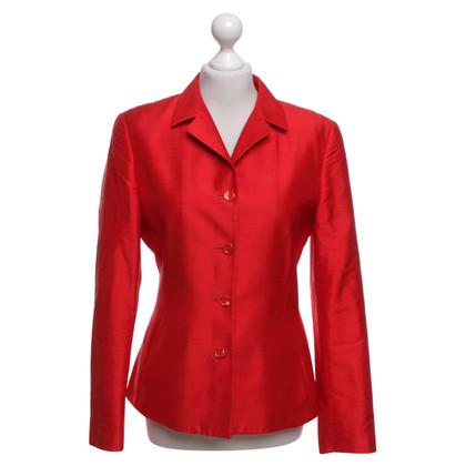 Nusco Silk Blazer en rouge